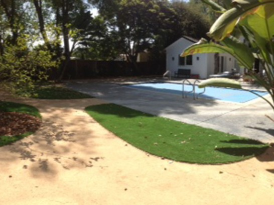 Green Lawn Princeville, Hawaii Backyard Deck Ideas, Backyard Pool artificial grass