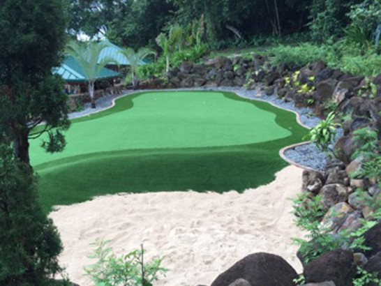 Artificial Grass Photos: Synthetic Turf Supplier Koloa, Hawaii Putting Green Flags